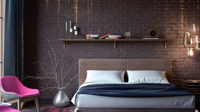 Attractive black brick wall ideas for room decoration